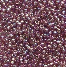 Toho 15/0 Seed Beads, Tranparent Rainbow Medium Amethyst 166B - 5 grams